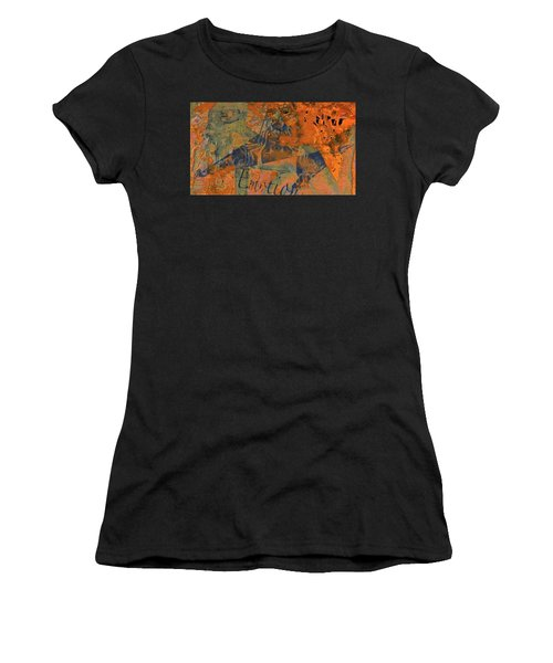 Feel Emotion Orange And Green Women's T-Shirt (Athletic Fit)
