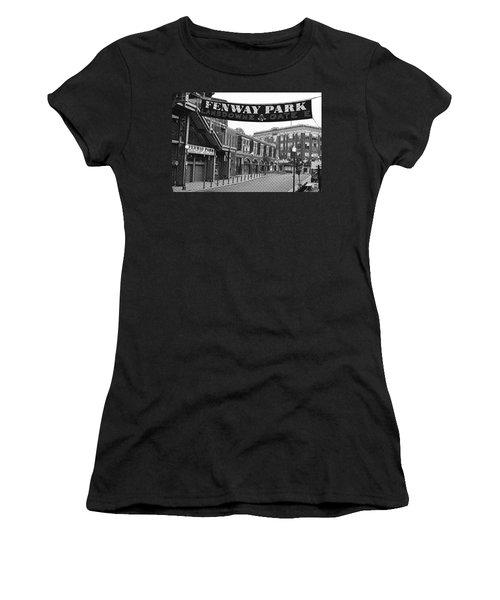 Fenway Park Banner Black And White Women's T-Shirt