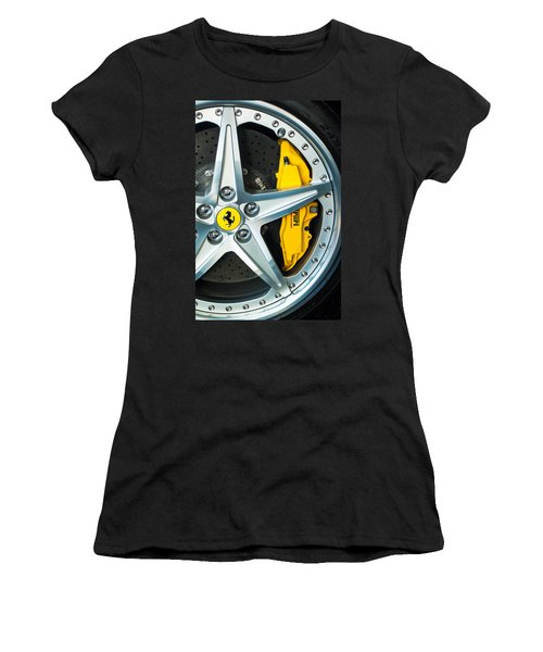 Ferrari Wheel 3 Women's T-Shirt (Junior Cut) by Jill Reger