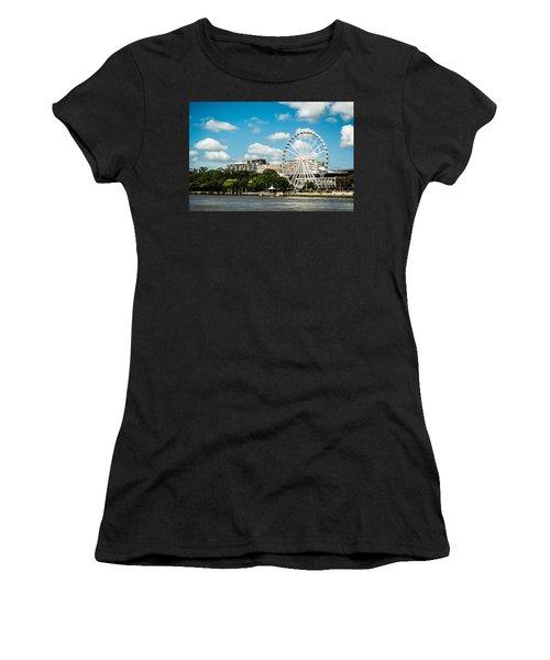 Ferris Wheel On The Brisbane River Women's T-Shirt (Athletic Fit)