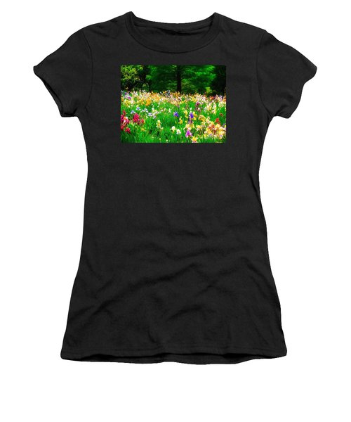 Field Of Iris Women's T-Shirt (Athletic Fit)