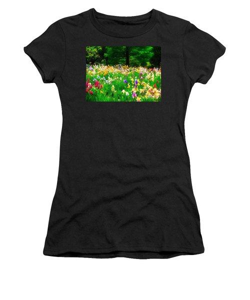 Field Of Iris Women's T-Shirt (Junior Cut) by Peggy Franz