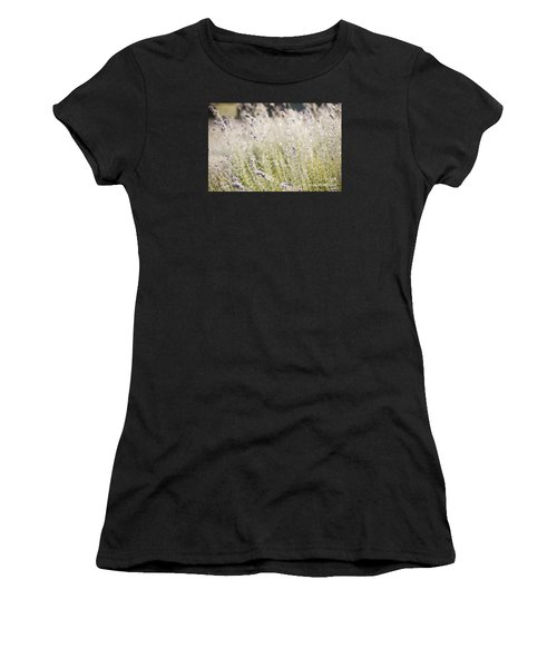 Field Of Lavender At Clos Lachance Vineyard In Morgan Hill Ca Women's T-Shirt (Athletic Fit)