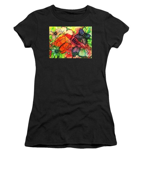 Women's T-Shirt (Junior Cut) featuring the painting Finding Sanctuary by Hazel Holland