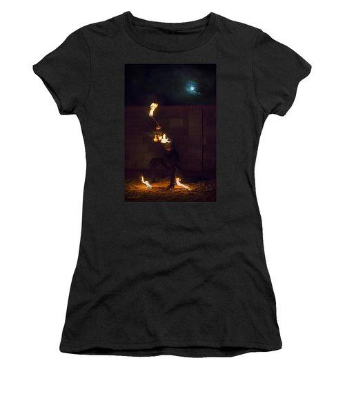 Fire Ninja Women's T-Shirt (Athletic Fit)