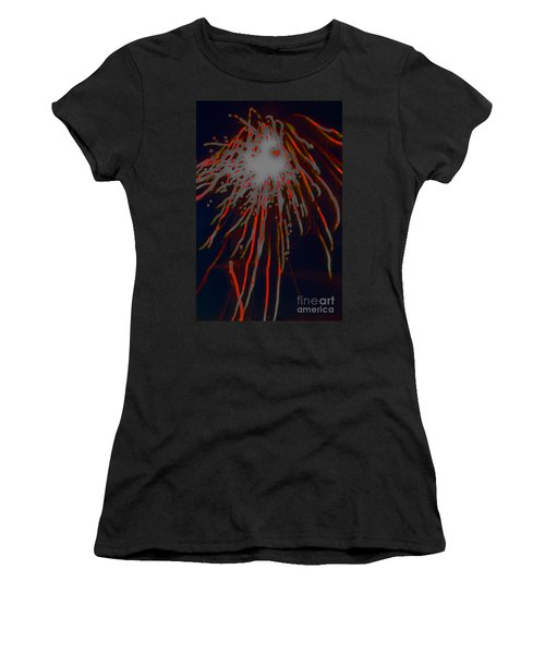 Women's T-Shirt featuring the photograph Fire Works by Mae Wertz
