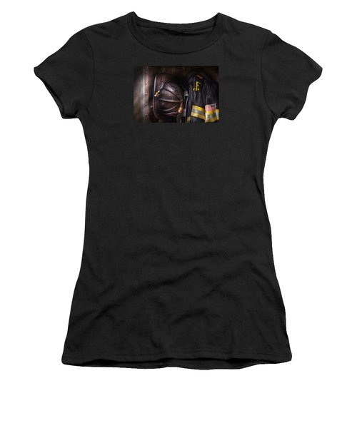 Fireman - Worn And Used Women's T-Shirt (Junior Cut) by Mike Savad