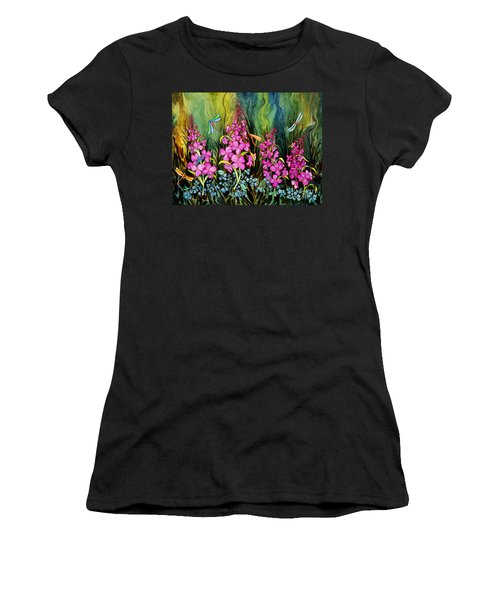 Fireweed And Dragonflies Women's T-Shirt (Athletic Fit)