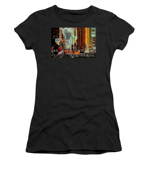 First Avenue - New York Ny Women's T-Shirt (Athletic Fit)