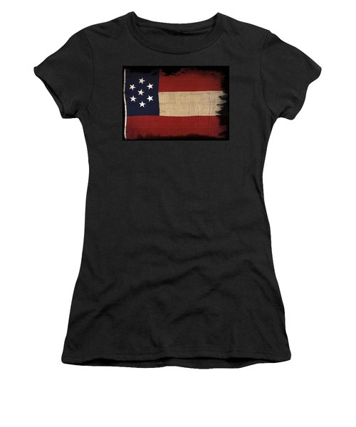 First Confederate Flag Women's T-Shirt (Athletic Fit)