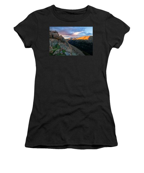 First Light On The Mountain Women's T-Shirt (Junior Cut) by Ronda Kimbrow