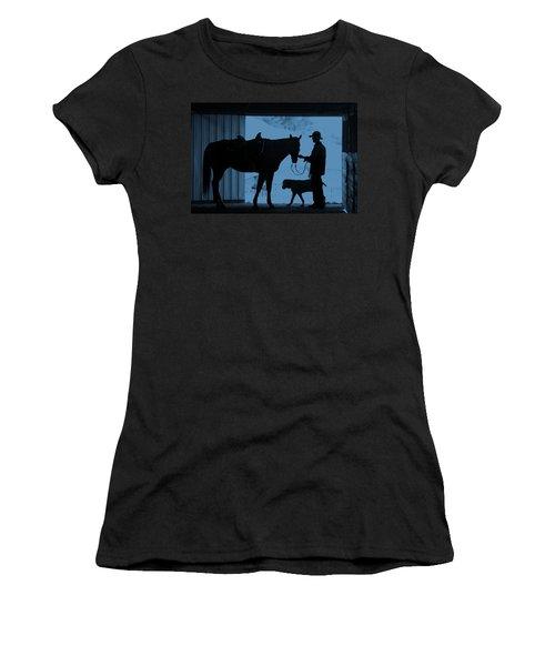 Women's T-Shirt (Junior Cut) featuring the photograph First Light by Steven Bateson