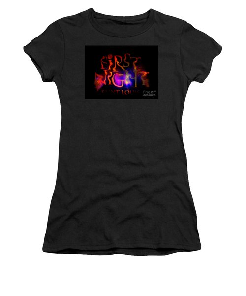 First Night Sign 2 Women's T-Shirt (Junior Cut) by Kelly Awad