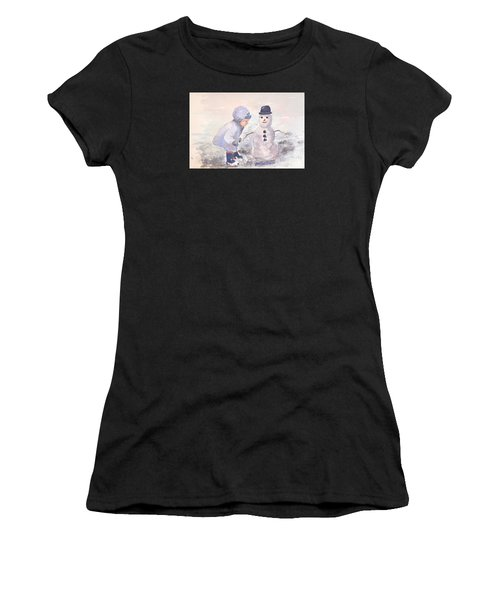 First Snowman Women's T-Shirt (Athletic Fit)