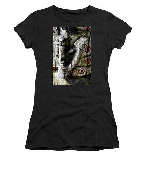 Fish Hook Women's T-Shirt (Junior Cut) by Cathy Mahnke