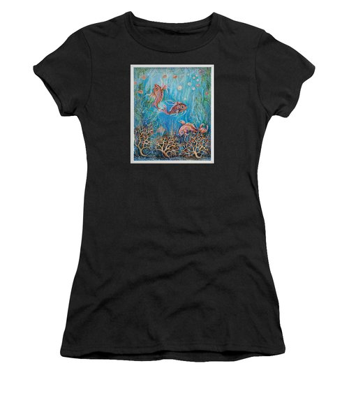 Fish In A Pond Women's T-Shirt (Athletic Fit)