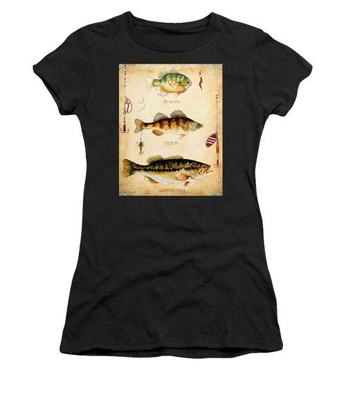 Fish Trio-c Women's T-Shirt (Athletic Fit)