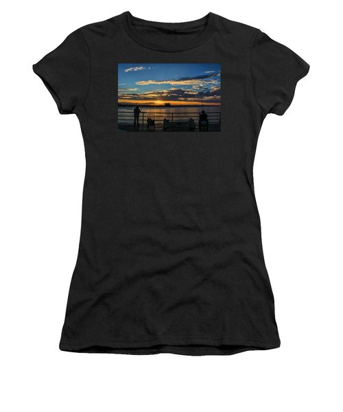 Fishermen Morning Women's T-Shirt (Athletic Fit)