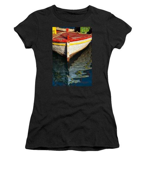 Fishing Boat In Greece Women's T-Shirt (Athletic Fit)