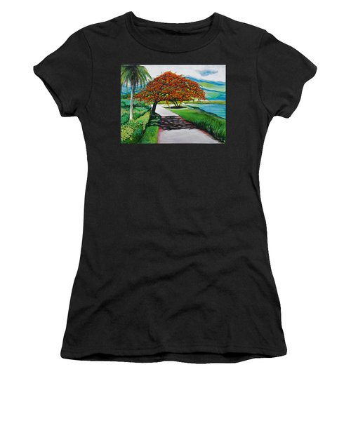 Flamboyan Women's T-Shirt (Athletic Fit)
