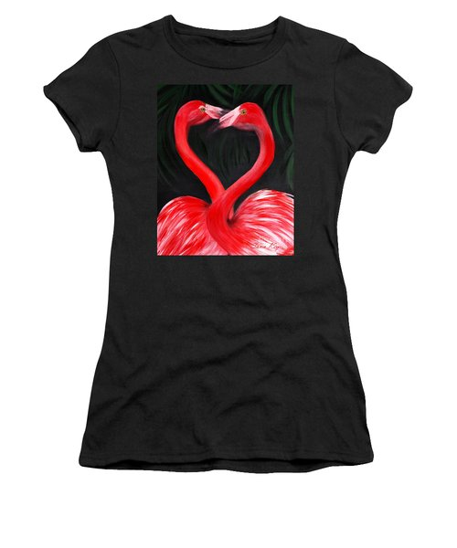 Love  Is... Flamingo Love. Inspirations Collection Women's T-Shirt (Athletic Fit)