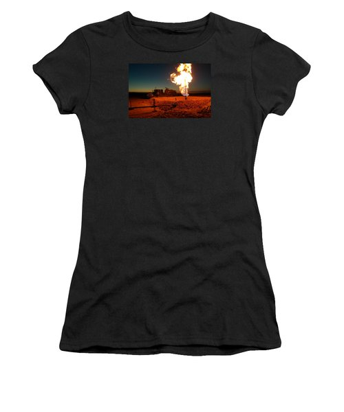 Flare And A Vacuum Truck Women's T-Shirt (Athletic Fit)