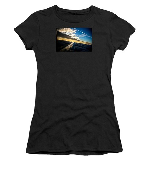 Flight 777 Women's T-Shirt (Junior Cut) by Joel Loftus