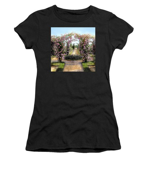 Floral Arch Women's T-Shirt (Junior Cut) by Terry Reynoldson