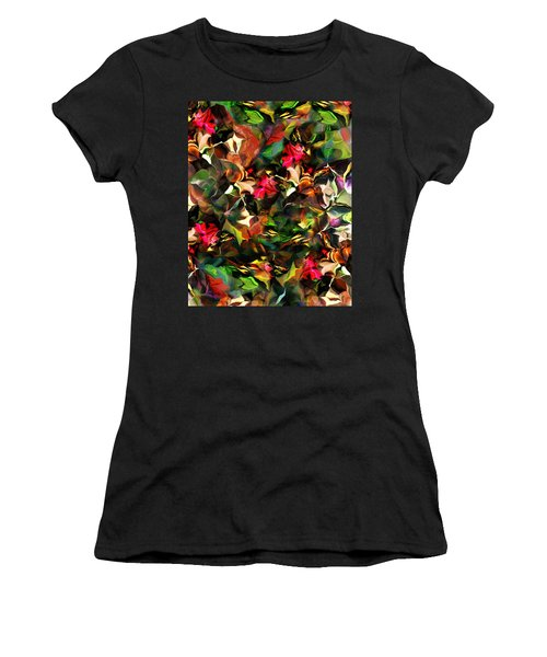 Women's T-Shirt (Junior Cut) featuring the digital art Floral Expression 121914 by David Lane