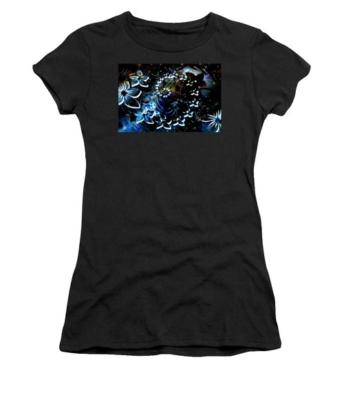 Floral Way Women's T-Shirt (Athletic Fit)