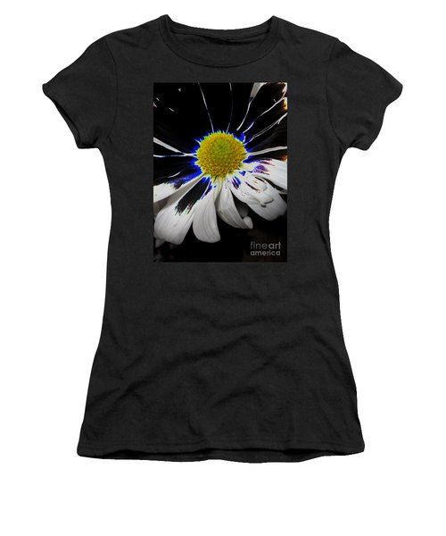 Art. White-black-yellow Flower 2c10  Women's T-Shirt (Athletic Fit)