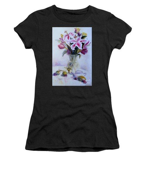 Flower Bouquet With Teapot And Fruit Women's T-Shirt