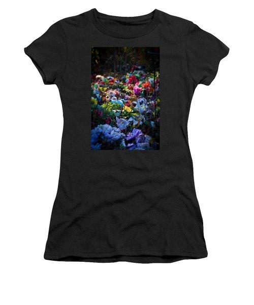 Flower Graveyard Women's T-Shirt (Junior Cut) by Melinda Fawver