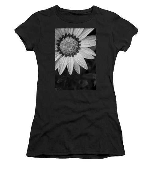 Flower Water Droplets Women's T-Shirt