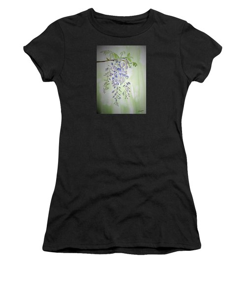 Flowering Wisteria Women's T-Shirt (Athletic Fit)