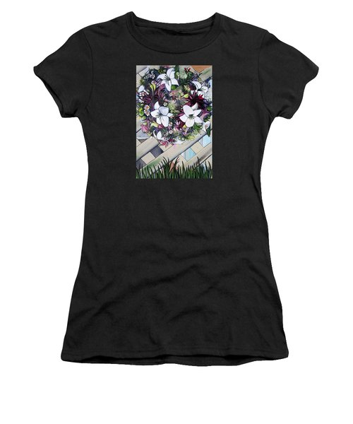 Floral Wreath Women's T-Shirt (Athletic Fit)