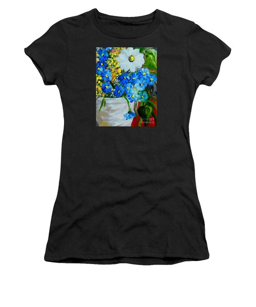 Flowers In A White Vase Women's T-Shirt (Athletic Fit)