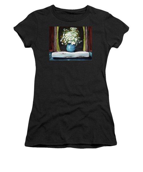 Flowers On The Ledge Women's T-Shirt (Athletic Fit)