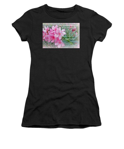 Flowers With Maya Angelou Verse Women's T-Shirt (Athletic Fit)