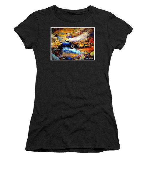 Women's T-Shirt (Junior Cut) featuring the photograph Flowing Creek by Tara Potts