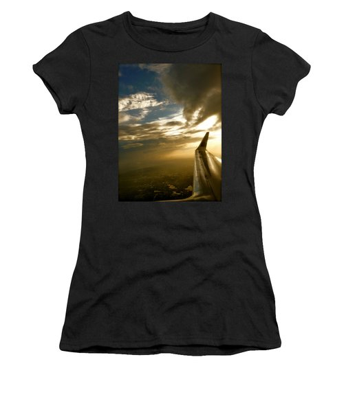 Flying Clouds By David Pucciarelli Women's T-Shirt (Athletic Fit)
