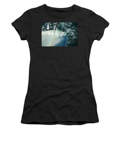 Flying Over Icy Niagara Falls Women's T-Shirt