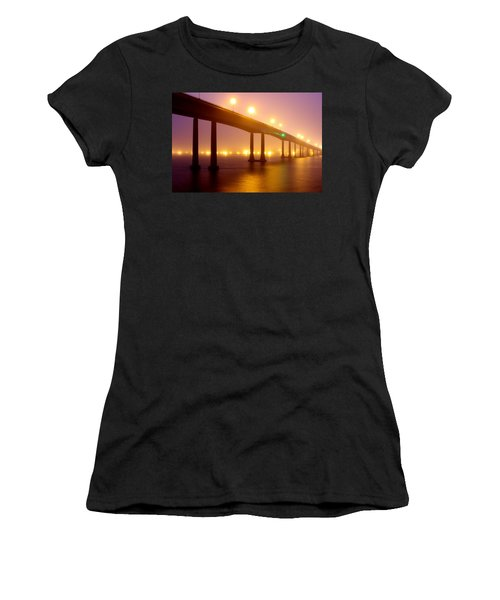 Foggy Navy Bridge Women's T-Shirt (Athletic Fit)