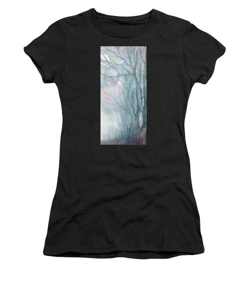 Foggy Trees Women's T-Shirt (Athletic Fit)