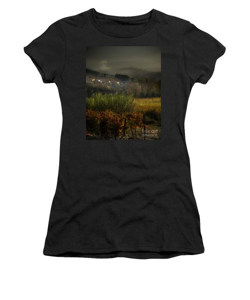 Foggy Tuscan Valley  Women's T-Shirt