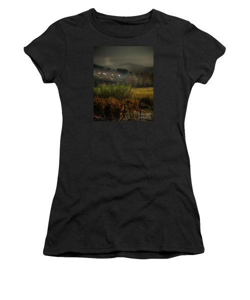 Foggy Tuscan Valley  Women's T-Shirt (Athletic Fit)