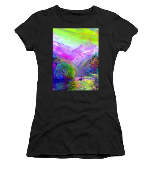 Love Is Following The Flow Together Women's T-Shirt (Athletic Fit)