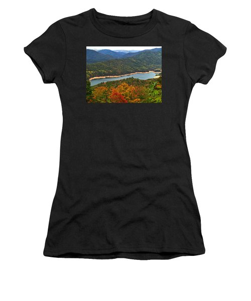 Fontana Lake In Fall Women's T-Shirt (Athletic Fit)