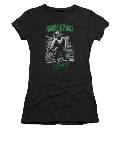 Forbidden Planet - Robot Poster Women's T-Shirt (Athletic Fit)