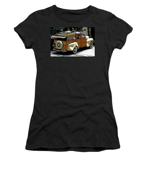 Ford Woodie Women's T-Shirt (Junior Cut) by Anne Mott